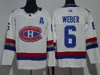 Mens Montreal Canadiens #6 Shea Weber 2017 Nhl 100 Classic Breakaway White Adidas Jersey