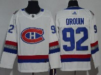 Mens Montreal Canadiens #92 Jonathan Drouin 2017 Nhl 100 Classic Breakaway White Adidas Jersey