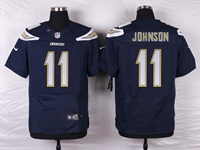 Mens Nfl Los Angeles Chargers #11 Stevie Johnson Navy Blue Elite Nike Jersey