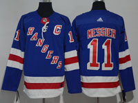 Mens Nhl New York Rangers #11 Mark Messier Blue Home Premier Adidas Jersey