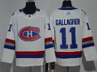 Mens Montreal Canadiens Canadiens #11 Brendan Gallagher 2017 Nhl 100 Classic Breakaway White Adidas Jersey