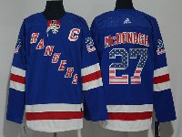 Mens Nhl New York Rangers #27 Ryan Mcdonagh Usa Flag Blue Adidas Jersey