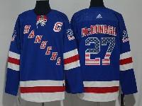 Mens Nhl New York Rangers #27 Ryan Mcdonagh Usa Flag Blue Adidas Jersey