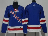 Women Nhl New York Rangers Blank Blue Adidas Jersey
