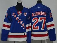 Women Nhl New York Rangers #27 Ryan Mcdonagh Blue Adidas Jersey