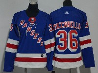 Women Nhl New York Rangers #36 Mats Zuccarello Blue Adidas Jersey