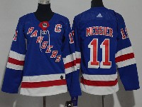 Women Nhl New York Rangers #11 Mark Messier Blue Adidas Jersey