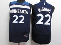 Mens Youth 2017-18 Season Nba Minnesota Timberwolves #22 Andrew Wiggins Blue Nike Jersey