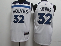 Mens 2017-18 Season Nba Minnesota Timberwolves #32 Karl-anthony Towns White Nike Jersey