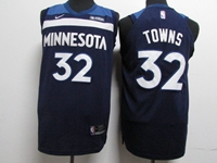 Mens Youth 2017-18 Season Nba Minnesota Timberwolves #32 Karl-anthony Towns Blue Nike Jersey