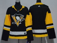 Women Youth Nhl Pittsburgh Penguins Blank Black Adidas Jersey
