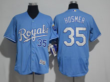 Mens Mlb Kansas City Royals #35 Hosmer Light Blue (royals) Elite Jersey