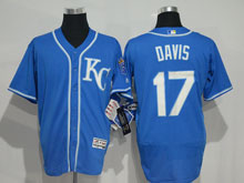 Mens Mlb Kansas City Royals #17 Davis Blue (kc) Elite Jersey