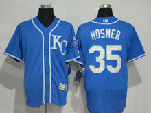 Mens Majestic Kansas City Royals #35 Eric Hosmer Blue (kc) Elite Jersey