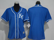 Women Mlb Kansas City Royals Blank Blue Jersey