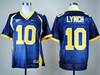 Mens Ncaa Nfl California Golden Bears #10 Marshawn Lynch Navy Blue Jersey