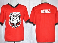 Mens Ncaa Nfl Georgia Bulldogs Dawgs Red Blank Fashion Jersey