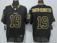New Mens Nfl Pittsburgh Steelers #19 Smith-schuster Lights Out Black Elite Jersey