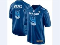 Mens Nfc Nfl New Orleans Saints #9 Drew Brees Blue 2018 Pro Bowl Game Nike Jersey