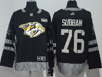 Mens Nhl Nashville Predators #76 P. K. Subban Black 100 Anniversary Adidas Jersey