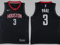 Mens 2017-18 Season Nba Houston Rockets #3 Chris Paul Black Nike Swingman Jersey