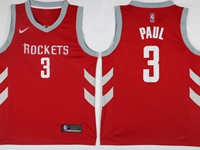 Mens 2017-18 Season Nba Houston Rockets #3 Chris Paul Red Nike Swingman Jersey