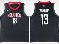 Mens 2017-18 Season Nba Houston Rockets #13 James Harden Black Nike Swingman Jersey