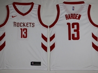 Mens 2017-18 Season Nba Houston Rockets #13 James Harden White Swingman Nike Jersey