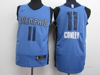 Mens 2017-18 Season Nba Memphis Grizzlies #11 Conley Light Blue Nike Jersey