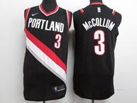 Mens 2017-18 Season Nba Portland Trail Blazers #3 C.j. Mccollum Black Nike Jersey