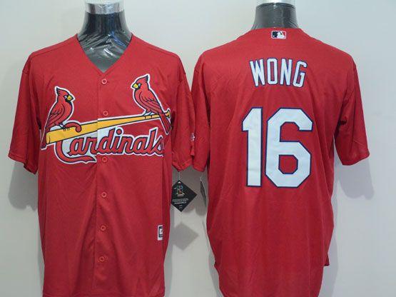 Mens Mlb St.louis Cardinals #16 Wong Red 2015 New Jersey