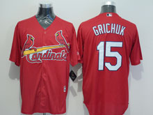 Mens Majestic St.louis Cardinals #15 Randal Grichuk Red Jersey