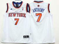 Youth Nba New York Knicks #7 Carmelo Anthony White Jersey