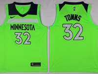 New Mens Nba Minnesota Timberwolves #32 Karl-anthony Towns Green Swingman Nike Jersey