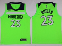 New Mens Nba Minnesota Timberwolves #23 Jimmy Butler Green Swingman Nike Jersey