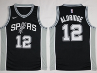 New Mens Nba San Antonio Spurs #12 Lamarcus Aldridge Black Nike Jersey