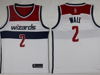 New Mens Nba Washington Wizards #2 John Wall White Swingman Nike Jersey