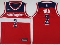 New Mens Nba Washington Wizards #2 John Wall Red Swingman Nike Jersey