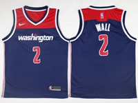 New Mens Nba Washington Wizards #2 John Wall Blue Swingman Nike Jersey