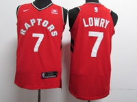 New Mens Nba Toronto Raptors #7 Kyle Lowry Red Nike Jersey