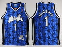 Mens Nba Orlando Magic #1 Mcgrady Blue Dark Star Jersey