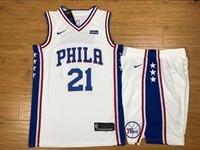 Mens Nba Philadelphia 76ers #21 Joel Embiid White Nike Suit Jersey