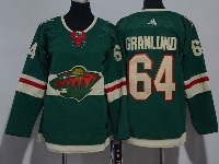 Women Youth Nhl Minnesota Wild #64 Granlund Green Home Premier Adidas Jersey