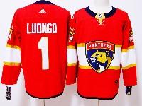 Mens Florida Panthers #1 Roberto Luongo Red Adidas Jersey
