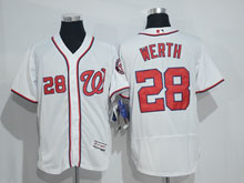 Mens Mlb Washington Nationals #28 Jayson Werth White Flex Base Jersey