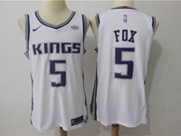 Mens Nba Sacramento Kings #5 De'aaron Fox White Player Nike Jersey
