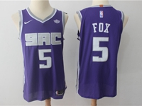 Mens Nba Sacramento Kings #5 De'aaron Fox Purple Player Nike Jersey