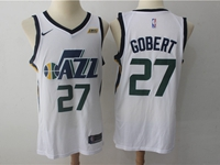 Mens 2017-18 Season Nba Utah Jazz #27 Rudy Gobert White Nike Swingman Jersey