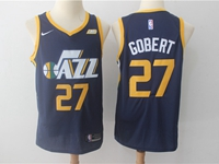 Mens 2017-18 Season Nba Utah Jazz #27 Rudy Gobert Dark Blue Nike Swingman Jersey