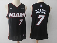 Mens Nba Miami Heat #7 Goran Dragic Black Nike Player Jersey